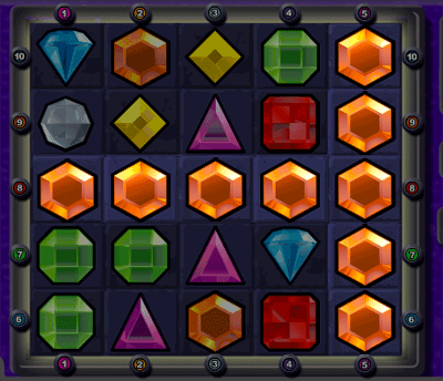 Bejeweled Jackpot Lines Example