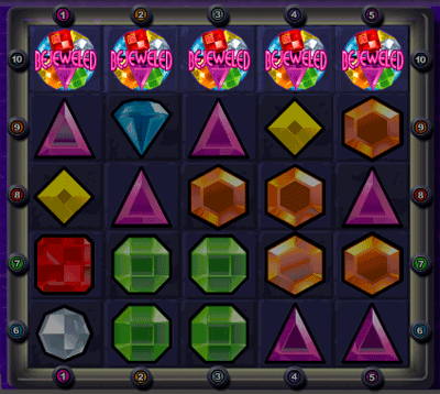 Bejeweled Super Jackpot Line Example