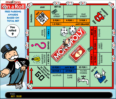 Monopoly On A Roll Streets