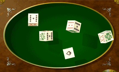 There are 5 dice that are rolled in the poker dice game each die has