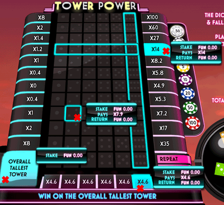 All Of The Tower Power Betting Options